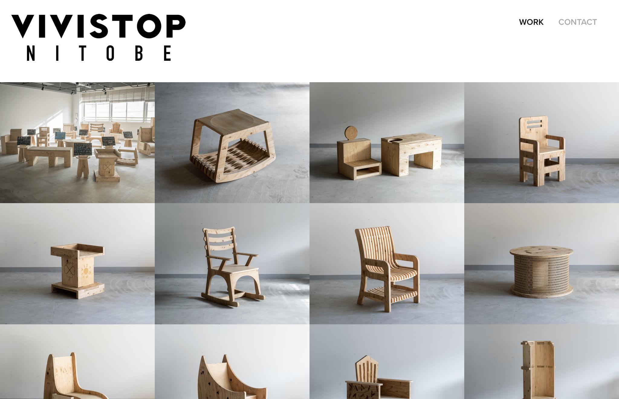 VIVISTOP NOTOBE FUNITURE DESIGN PROJECT webページが完成!